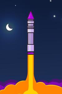 800x1280 Rocket Minimalism 4k