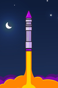 Rocket Minimalism 4k