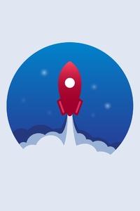 640x960 Rocket Minimalist 4k