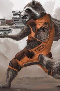 Rocket Raccoon Artwork 4k