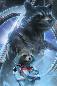 1080x1920 Rocket Raccoon In Avengers Endgame 2019