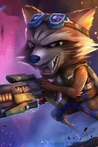 320x480 Rocket Raccoon With Baby Groot