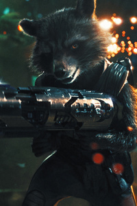 Rocket Raccoon With Gun
