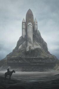 Rocket Space Art