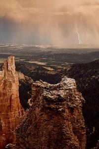 Rocks Mountains Landscape 5k