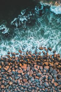 Rocks Sea Coast 4k