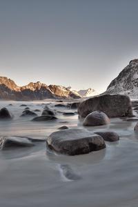Rocks Seaside Long Exposure 5k