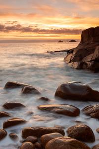 Rocks Shore Long Exposure 4k