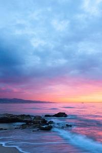 Rocks Sunrise Cloudscape 4k