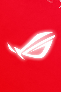 320x480 Rog Logo Red Background 4k