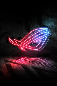 Rog Neon Logo 5k