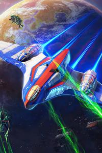360x640 Rogue Swarm Fighter Spaceship