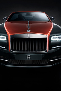 Rolls Royce Black Wraith Front