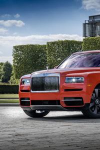 360x640 Rolls Royce Cullinan Fux Orange 2019