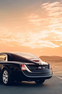 1242x2688 Rolls Royce Sweptail Car Rear