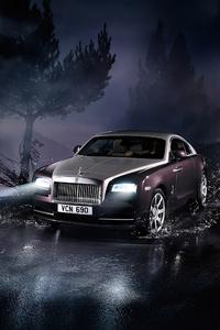 480x854 Rolls Royce Wraith 2021