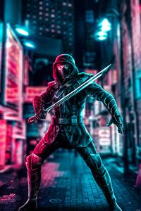 1080x2280 Ronin Neon Art