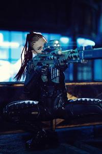 320x480 Roof Sniper Girl 4k