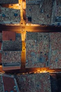 Rooftops Buildings Aerial View Hut Design 4k