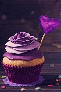 640x1136 Roses Cupcake