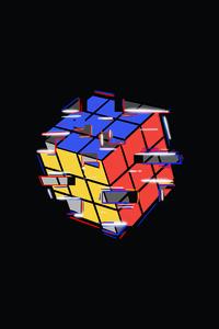 360x640 Rubik Cube Abstract 4k