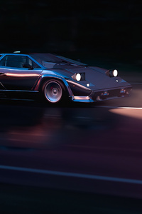 Running In 80s Lamborghini Countach 4k