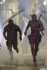 Ryan Renolds And James Corden In Deadpool Dress