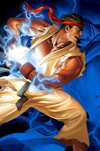 1125x2436 Ryu Hadouken Street Fighter 2