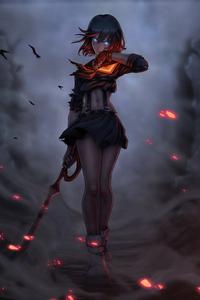 1080x2280 Ryuko Warrior Girl 4k