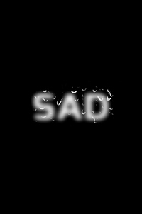 1242x2688 Sad Typography 5k