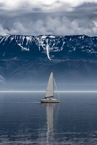 750x1334 Sailboat Seascape Landscape