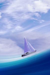 Sailing Ship In Sea 4k