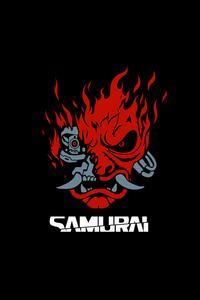 800x1280 Samurai Cyberpunk Minimal Dark 8k