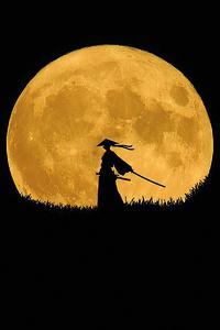 Samurai Dark Night Minimal 4k
