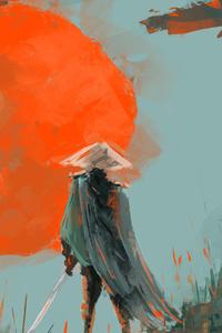 Samurai Digital Artwork 4k