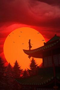 320x480 Samurai Evening 4k