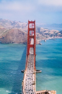 San Francisco Bridge Aerial View 5k