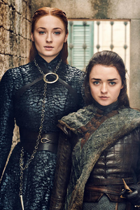 Sansa And Arya Stark Game Of Thrones Season 8