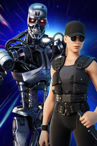 360x640 Sarah Connor And Terminator Fortnite 2021