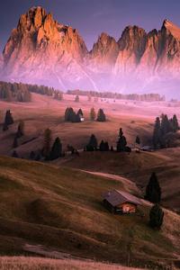 1440x2560 Sassolungo Morning Glow 4k