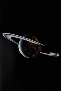 800x1280 Saturn Rings Dark 5k
