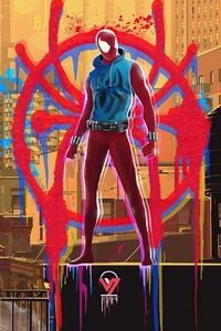 2160x3840 Scarlet Spider Appearance In Spider Verse Movie 5k