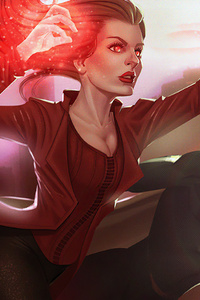 2160x3840 Scarlet Witch And Vision Wanda Maximoff 4k