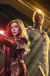 Scarlet Witch And Vision Wandavision 4k