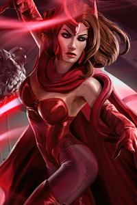 2160x3840 Scarlet Witch Art Print 4k