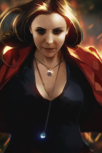 720x1280 Scarlet Witch Artwork