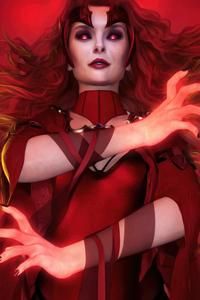 360x640 Scarlet Witch Fan Art 4k