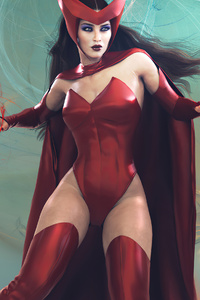 Scarlet Witch Girl 4k