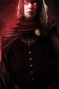 320x568 Scarlet Witch Glowing Red Eyes 4k