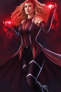 800x1280 Scarlet Witch Magic Girl 4k